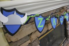 Let this banner add a special touch to your little Vikings special day. This listing is for 1 Name banner for up to 7 letters. This is a                                                                                                                                                                                 Mais