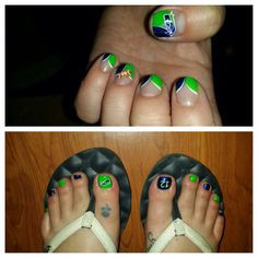 Seahawks Nails from Happy Nails in Lacey WA