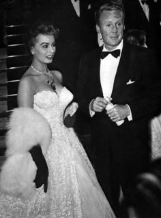 Sophia Loren and Van Johnson