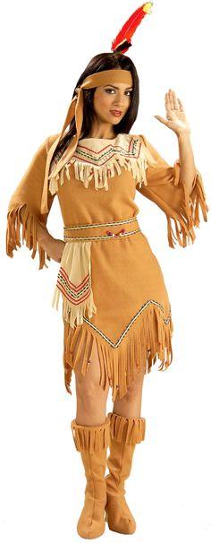 Tan Microfiber Indian Costume Moccasins Adult e
