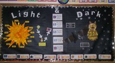 Light and Dark Display classroom display photo - Photo gallery - SparkleBox