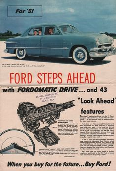 1951 Ford Sales Brochure https://plus.google.com/+JohnPruittMotorCompanyMurrayville/posts
