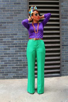 Colour blocking fashion, color blocking outfits, i love fashion, work fashi Orange Outfits, I Love Fashion, Passion For Fashion, Autumn Fashion, Style Fashion, Cool Winter, Looks Style, My Style, Color Blocking Outfits