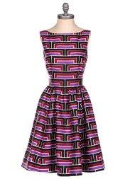 Kate Spade Carolyn Dress in Purple
