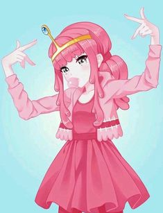 Princess Bubblegum Adventure Time <== if she's chewing bubblegum does that make her a cannibal? Adventure Time Anime, Fiona Adventure Time, Adventure Time Princesses, Adventure Time Girls, Adventure Time Flame Princess, Adventure Time Characters, Cartoon As Anime, Cartoon Shows, Anime Art