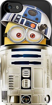 Despicable Me minions inside Star wars R2D2 robot droid apple iphone 5, iphone 4 4s, iPhone 3Gs, iPod Touch 4g case