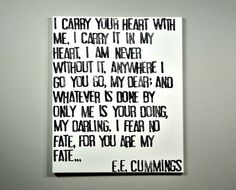 I Carry Your Heart E.E. Cummings Poem on by CantonBoxCompany