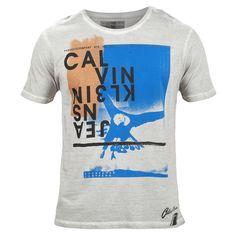 T-Shirt Calvin Klein Jeans CKJ Products NYC Cinza Claro #casualdenvoamutum 65 3308 3039.