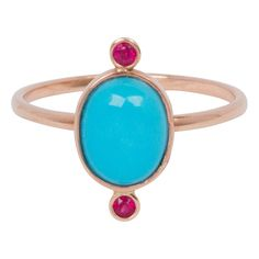 14k turquoise and ruby ring, ruby ring, turquoise ring, turquoise gold ring, gold ruby ring, wedding ring, engagement ring, rose gold ring, by Gildedingold on Etsy https://www.etsy.com/listing/226333880/14k-turquoise-and-ruby-ring-ruby-ring