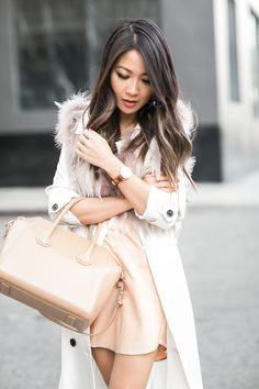 Timestamp :: Soft textures & Classic timepiece :: Outfit :: Jacket :: Marissa Webb (Topshop feather vest) Dress :: Mason Shoes :: Dior Bag :: Givenchy Accessories :: Daniel Wellington 'Dappper' 34mm Published: March 30, 2016