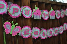 Butterfly Birthday Banner by RandRcreation on Etsy, $38.00