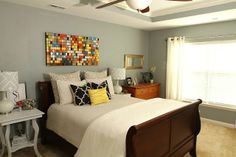 Master Bedding Ideas Grey Walls | Eat. Sleep. Decorate.: {Master Bedroom} Update WALL COLOR: SIMPLY GRAY ...