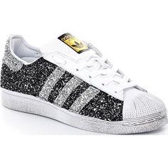 finest selection cfb77 872ce adidas Originals Superstar W Glitter Black nonsolosport bianco Sportivo  Sapato Adidas Feminino, Sapatos Da Adidas