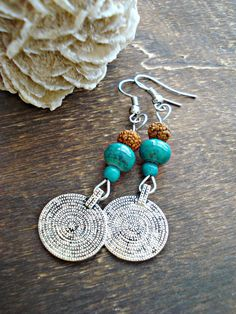 Boho Jewellery Boho Earrings Gypsy Boho by HandcraftedYoga, $22.00                                                                                                                                                                                 More