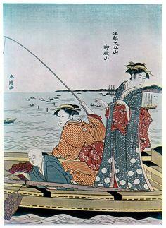 UKIYO - E.......BY KATSUKAWA SHUNSHO......PARTAGE OF ARTIST SALON OF JAPAN.....ON FACEBOOK......