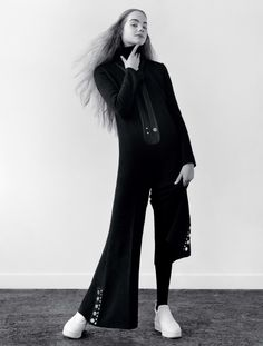 """Estella Boersma in """"Fade to Black"""" by Jamie Hawkesworth for Vogue UK September 2015"""