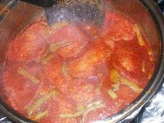 La Cocina De Nathan: Cuban, Spanish, Mexican Cooking & More: Tortitas de Camaron en Chile Colorado Con Nopales (Mexican Shrimp Fritter and Cactus Stew)