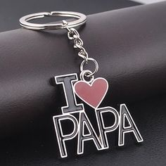 I Love Papa Creative Metal Keychain Keyring Key Chain Cute Family Father's Day Daddy Daughter Quotes, Love My Parents Quotes, Mom And Dad Quotes, I Love My Parents, Father Daughter, Father Quotes, Family Quotes, Love U Papa, I Love My Dad
