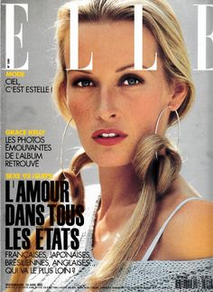 Estelle Lefebure | Photography by Marc Hispard | For Elle Magazine France | April 1993