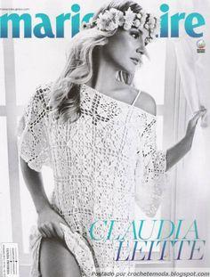 Crochetemoda: Cláudia Leitte - Vestido de Crochet