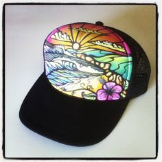 Art by J. Samarin: Hand Painted Trucker Hats...