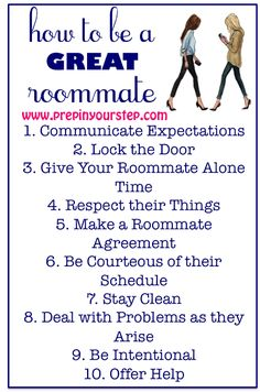 How To Be A GREAT Roommate