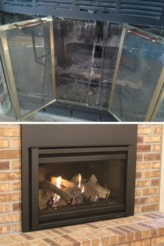 Jessica's house was transformed into a dream home, complete with heating comfort at the touch of a button. See what her family loves most about having a gas fireplace insert. Gas Fireplace Insert Cost, Vented Gas Fireplace, Fireplace Doors, Fireplace Inserts, Electric Fireplace, Gas Insert, Gas Pipe, Spanish House, Heating Systems