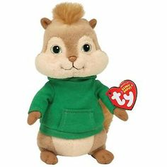 Ty Beanie Baby Theodore Alvin and The Chipmunks Adorable Stuffed Animal | eBay
