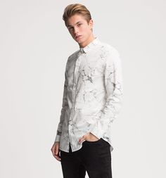 Shirt Slim fit in cream white