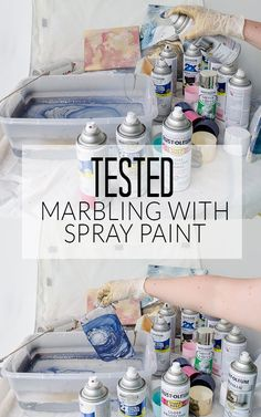Can you really create a marbled look with spray paint and water? Find out what happened when I put this method to the test!