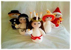 virka luciatåg mönster Crochet Gifts, Crochet Toys, Free Crochet, Little Christmas, Christmas Time, Christmas Ornaments, Xmas, Knitting Patterns Free, Crochet Patterns