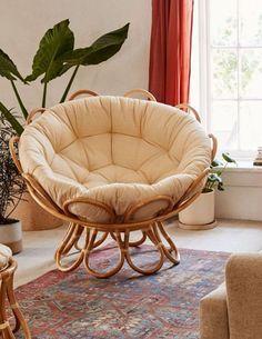 home accents living room Flora Rattan Papasan Chair - - Cozy Living Rooms, Living Room Chairs, Living Room Furniture, Home Furniture, Living Room Decor, Bedroom Decor, Dining Chairs, Cheap Furniture, Furniture Design