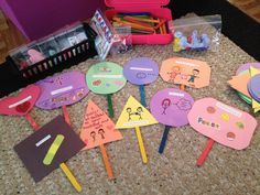 10 Commandment Sign Activity:Cut out shapes out of colored paper.Write a commandment on each.Have them draw pictures& design each sign to help them remember each.Glue to craft sticks.Signs can be used to play games to teach& review the commandments with children such as charades.One person tells the others whether they will be acting out someone following or not following a commandment and the other children have to hold up the sign to the commandment they think is being demonstrated.