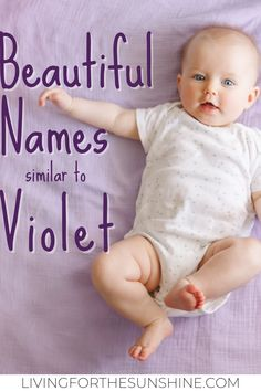 Do you love the name Violet, but are looking for a slightly different name? This list of names that are similar to Violet will help you find the perfect name for you. #names #girlnames #babynames #babies #pregnant Beautiful Girl Names, Unique Girl Names, Pretty Names, Baby Girl Names, Boy Names, Baby Girls, Traditional Girl Names, Classic Girls Names, Old Lady Names