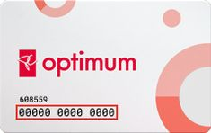 """PC Optimum card"" ( A white card with pink and grey circles on it. There are 13 numbers on front of the card and the first six numbers begin with"