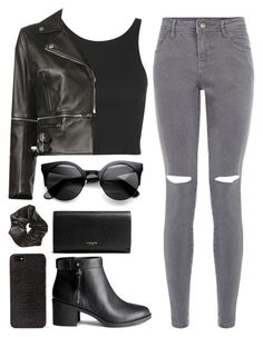 """Untitled #113"" by smushsushi ❤ liked on Polyvore featuring Topshop, H&M, Christopher Kane, Coach and DKNY"