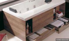 Bathroom Designs Great Bathtubs With Drawers Innovative Bathroom Furniture Ideas Handy Modern Bathtub with Style Modern Small Bathrooms, Modern Bathtub, Modern Bathroom Design, Bathroom Small, Modern Design, Bath Design, Bad Inspiration, Bathroom Inspiration, Furniture Inspiration