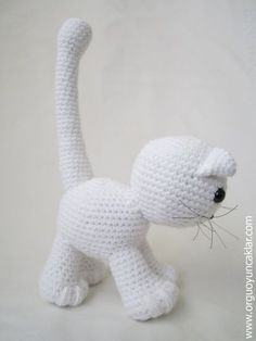 PATTERN DEAL Buy 4 get 1 free !! You can order any 4 pattern and get 1 free ... Please advise your choise when purchasing. -------------------------------------------------------------  Amigurumi White Cat..  miaw , miaw , please adopt me :)  This listing is for an amigurumi pattern, not the finished toy.  The finished cat is approximately 10 (25cm) tall.(including the tail)  Crochet pattern in pdf format, written in English, and emailed to you within 24 hours of your payment!  Please feel…