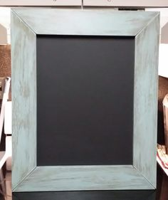 Made by special request.  Chalkboard with distressed frame.  This was fun to make!!