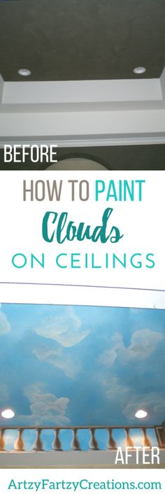 How to Paint Clouds on Ceilings   Painted Clouds on Ceilings & Walls   Cheryl Phan   Painted Ceiling Ideas   Colored Ceilings   Murals