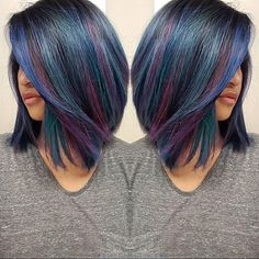 """Client selfies are the best selfies #pravana #pravanavivids #rainbowhair…"