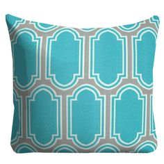 Turquoise Outdoor Pillows,Outdoor Throw Pillows,Patio Pillows,Turquoise Pool Pillows, Pillow Covers, Outside Pillows, Turquoise and White