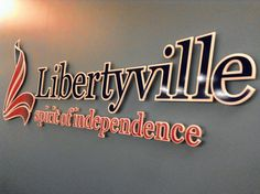 Originally known as Vardin's Grove, the village's 15 residents voted to change the name to Independence Grove but learned the name had been taken so Libertyville was established on April 16, 1837. This logo was approved in 2006.