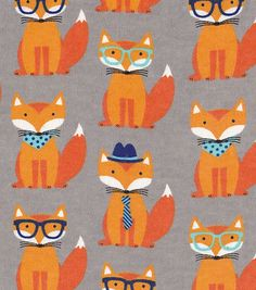 Snuggle Flannel Fabric-Dapper Fox