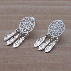 Dream catcher Stud Earrings, Trendy and Stylish Jewelry, Minimalist Earrings, Unique Earrings, Women / Teen Girls Fashion Jewelry by: ilovejewelryla