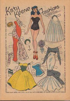 Spent many tweener hours designing outlandish clothes for Katy Keene comics -- some even got published.
