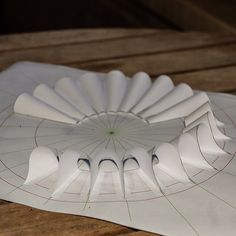 What's on my table today Concept Models Architecture, Paper Architecture, Origami And Kirigami, Origami Paper Art, Paper Folding Crafts, Paper Crafts, Creation Couture, Fabric Manipulation, Fashion Sewing