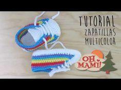 Zapatitos para bebé a crochet, talle 10 y 11 cm - Paso a paso - 1de2 - YouTube