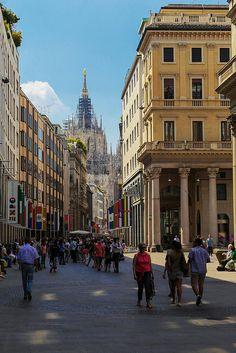 Shopping Street, Milan, Italy