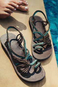 Comfortable and elegant sandals Vegan Sandals, Summer Rain, Sea Waves, Beach Holiday, Beach Sandals, Walks, Best Sellers, Comfy, Turquoise